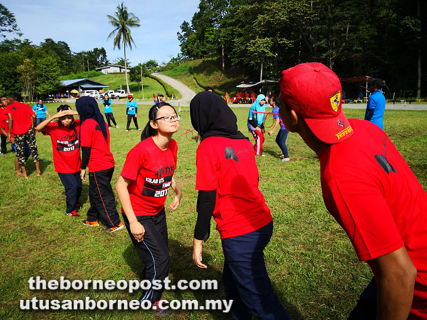One of the games played during the family day.